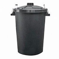 90L Clip Lid Plastic Dustbin (E561)