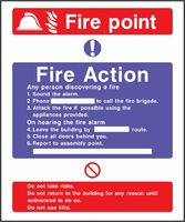Fire Action Sign FACT0006-0443