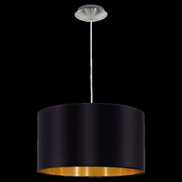 Pendant with Black and Gold Shade, E27 Lamp Required | LV1902.0018