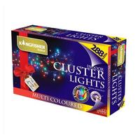 KINGFISHER 288 MULTI COLOURED LED CLUSTER CHRISTMAS LIGHTS