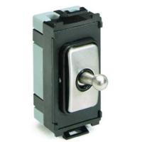Schneider Ultimate Screwless Grid Mirror Steel Intermediate Toggle black|LV0701.1073