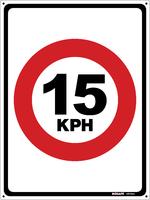 Traffic Speed Sign 15 kph