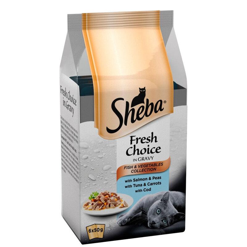 Sheba Fresh Choice Fish & Veg Collection in Gravy 8 x 6 x 50g