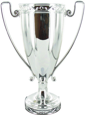165mm Silver Cast Cup with Wire Handles