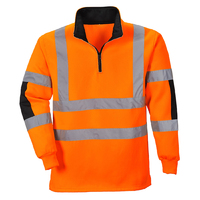 Portwest Xenon Rugby Sweatshirt Hi-Vis Orange