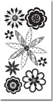 Black Sketch Flowers  Essential Craft Sticker.