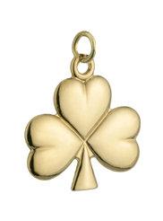 14k gold shiny shamrock charm small s8134 from Solvar