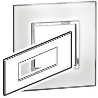 Arteor (British Standard) Plate + Support 6m Square Mirror White| LV0501.0342
