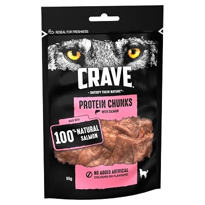 Crave Protein Chunks with Salmon 6 x 55g