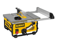 Dewalt DW745 110v 1750w 10'' 250mm H/D Portable Table Saw 3850rpm Cutting Depth 77mm @ 90° 57mm @ 45° Cutting Width Right 610mm Left 315mm 22kg ***SAW ONLY***