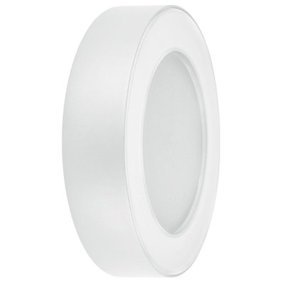 LEDVANCE White Round Wall Light, 13w 3000k Warm White