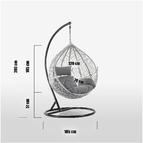 Dalia Santa Cruz Egg Chair - Grey Anthracite 2