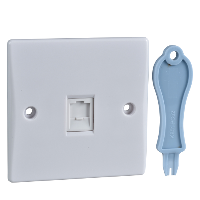 Schneider Ultimate 1Gang RJ11 Outlet IP20