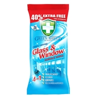 Green Shield Glass & Window Wipes 70pk