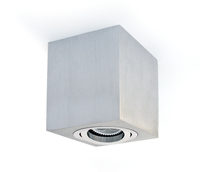 ONE Light Square GU10 Surface Spot Aluminium with Aluminium Trim