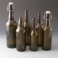 Glass Beer Bottles Swing Top & Crown Finish