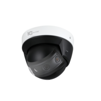 IC Realtime 4x2MP Multi Sensor Panoramic H.265 30m IR IK10 Dome with Audio/Alarm I/O