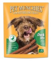 Pet Munchies Dog Stix - Duck 50g x 5 x 10