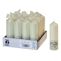 135mm (5'') Chapel Candle Ivory 40mm Dia- 135/40