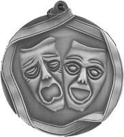 60mm Drama Medallion (Antique Silver)