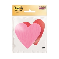 Post-it Super Sticky Die-Cut Specialty Hearts (2x75 sheets)