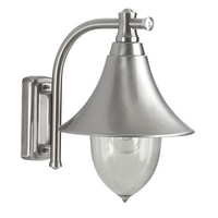 ANSELL Lampara Inox E27 Wall Lantern Stainless Steel