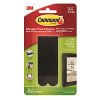 Command Large Picture Strips Black 4pk - 17206BLK