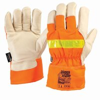 Pro Reflector Leather Glove Flu-Ora OSFA