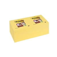 Post-it Super Sticky Canary Yellow (90 Sheets) 76x76mm 12pk