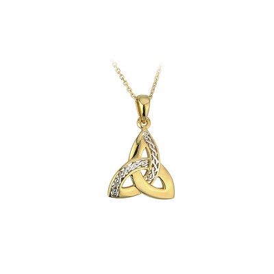 TWO TONE PLATED TRINITY KNOT PENDANT