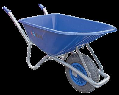 100ltr Blue PVC Garden Wheelbarrow Assembled
