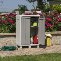 Florida Outdoor Cabinet Small (Warm Grey) (W65 X D38 X H100 Cm)