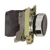 Telemecanique Black Flush Pushbutton 1NO Contact