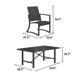 Capitol Hill Steel Patio Dining Set 4