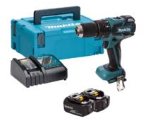 Makita DHP459L2 18V Brushless 2 Speed Combi Drill C/W 2 x 3.0Ah Li-ion Batteries & Charger In Box