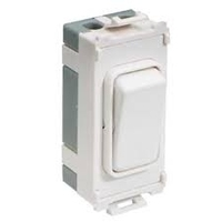 Schneider Ultimate Grid 2way & centre off switch Painted White with White surround|LV0701.1154