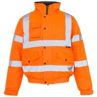 Supertouch Hi-Visibility Standard Storm Bomber Jacket, Orange
