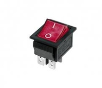 Rocker Switch Red 4 Tag