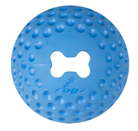 "Rogz Gumz Medium Treat Ball - Blue 2½"" x 1"