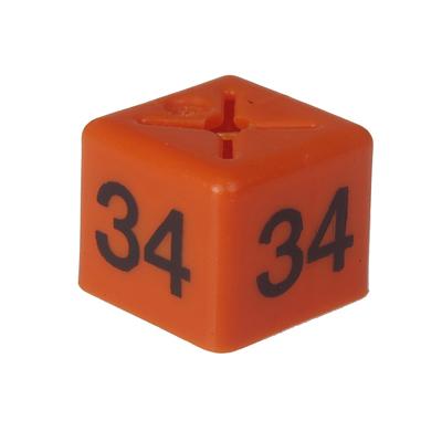 SHOPWORX CUBEX 'Size 34' Size cubes - Orange (Pack 50)