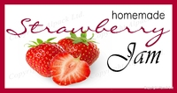 strawberry jam label