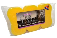 SUPERBRIGHT CAR CARE JUMBO CAR SPONGES 3 PACK