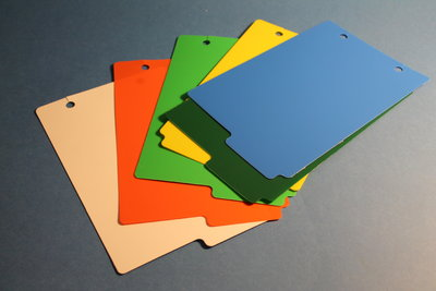 Various coloured dividers (PK25 EACH COLOUR)