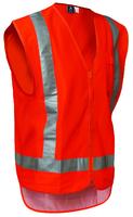 Hi Vis Day/Night Polyester Zip Safety Vest