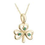 14k gold emerald shamrock pendant s45621 from Solvar