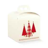 BOX CR/RED XMAS TREES  200X200X180mm disc