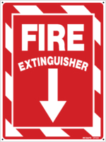 FIRE Extinguisher With Arrow Sign