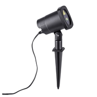 LED BLACK OUTDOOR GROUND SPIKE LIGHT 6W IP44