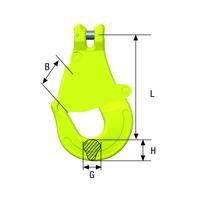 Gunnebo Clevis latch Skip Hooks GKC | Grade 10