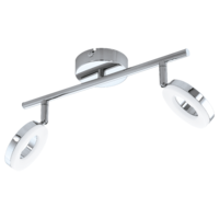 EGLO Gonaro Polished Chrome Twin Spot Wall Light LED 2x3.8w | LV1902.0041
